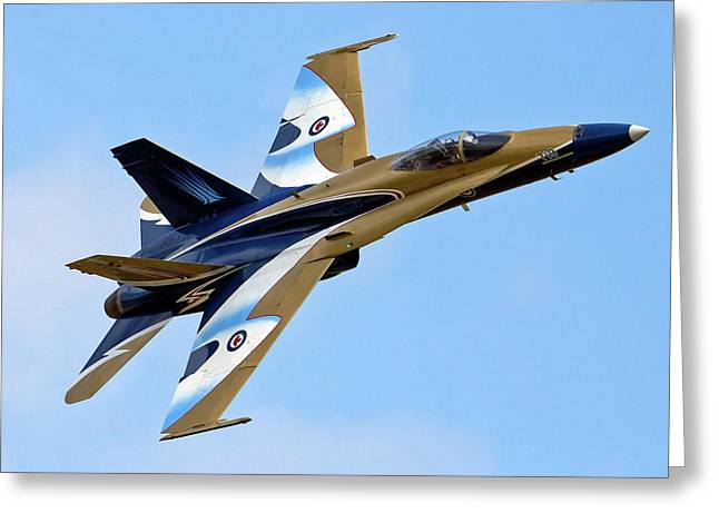 F-18 Greeting Cards - Hornet Photo Pass Greeting Card by Bill Lindsay