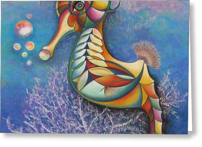 Horse of a Different Color Greeting Card by Tracey Levine