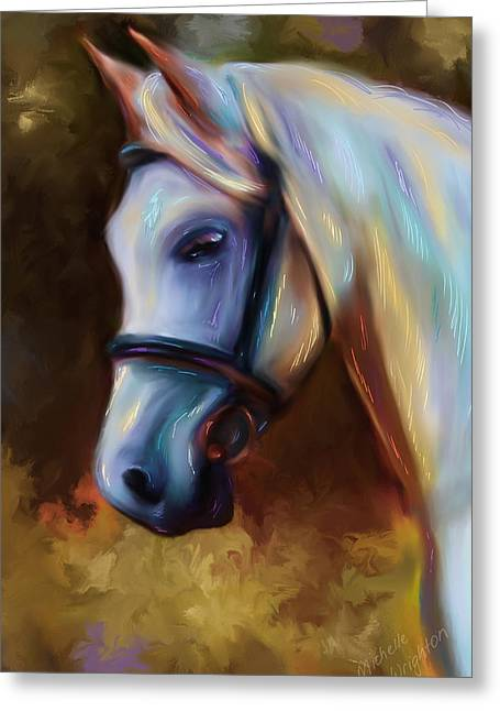 Michelle Wrighton Greeting Cards - Horse of Colour Greeting Card by Michelle Wrighton
