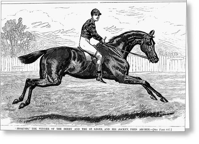 1880s Photographs Greeting Cards - HORSE RACING, 1880s Greeting Card by Granger