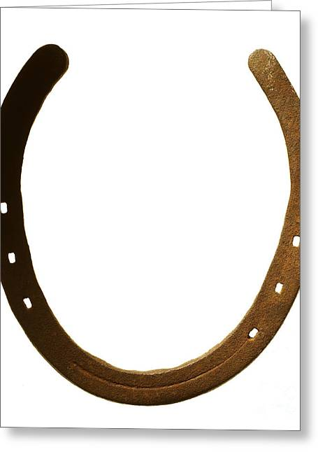 Oxidation Greeting Cards - Horse shoe Greeting Card by Tony Cordoza