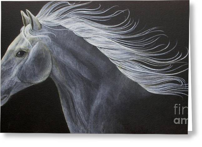 Horses Paintings Greeting Cards - Horse Greeting Card by Susan Kissinger