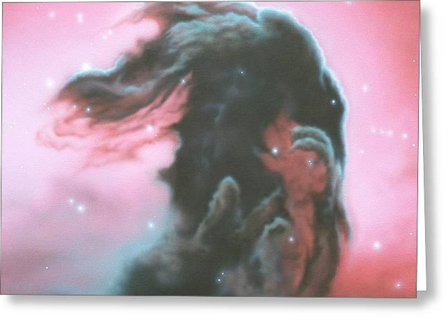 Horsehead Nebulea Greeting Card by Arley Blankenship