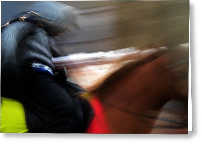 Horserider Greeting Card by Colette V Hera  Guggenheim
