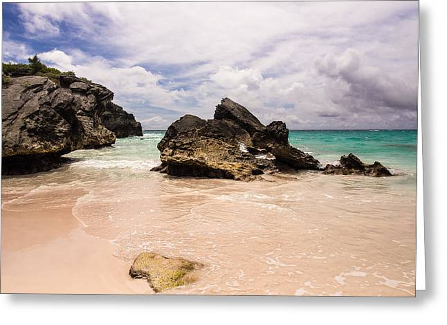 Valerie Morrison Greeting Cards - Horseshoe Bay Beach Greeting Card by Valerie Morrison