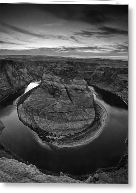 Sunset Photos Greeting Cards - Horseshoe Bend Greeting Card by Andrew Soundarajan