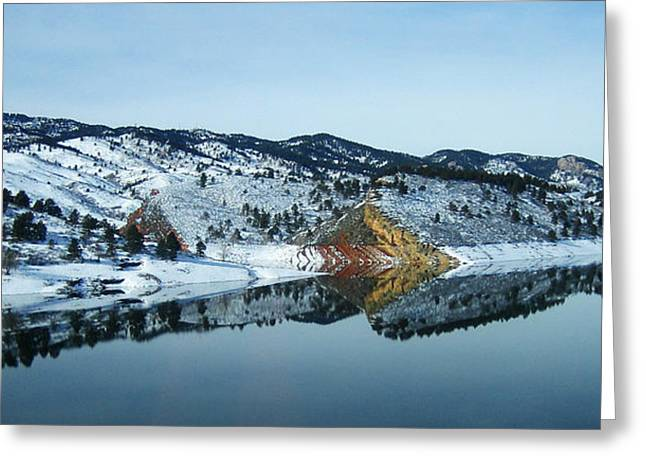 Horsetooth Reservoir Greeting Cards - Horsetooth Reflections Greeting Card by Julie Magers Soulen