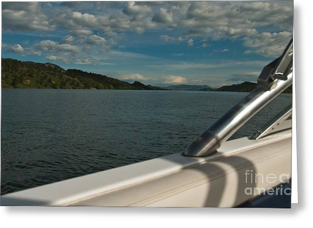 Horsetooth Reservoir Greeting Cards - Horsetooth Reservoir Port Side View Greeting Card by Harry Strharsky