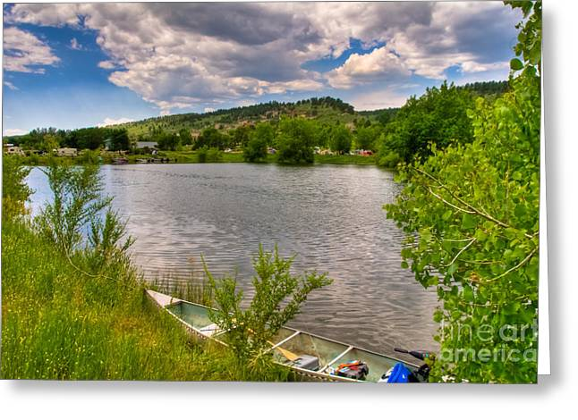 Horsetooth Reservoir Greeting Cards - Horsetooth Reservoir Summer Scene Greeting Card by Harry Strharsky
