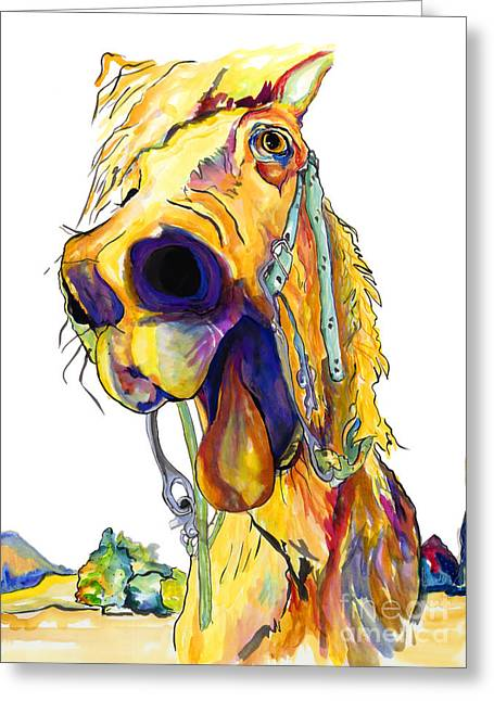 Horse Prints Greeting Cards - Horsing Around Greeting Card by Pat Saunders-White
