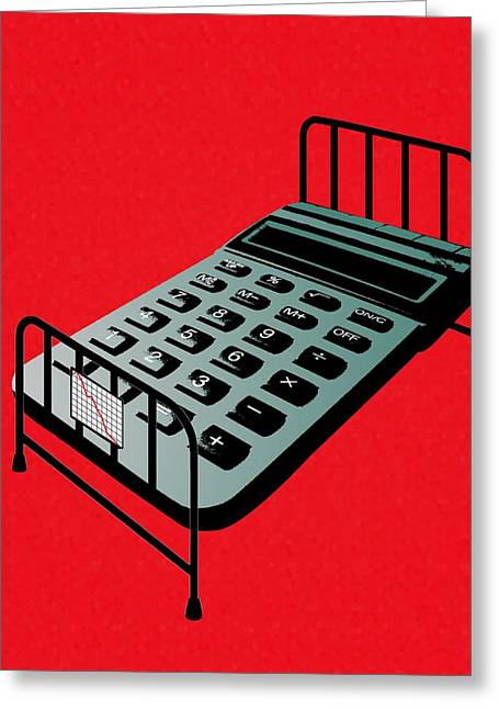 Risk Security Greeting Cards - Hospital Bed Costs, Conceptual Image Greeting Card by Stephen Wood