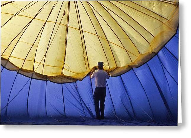 Recently Sold -  - Warner Park Greeting Cards - Hot Air Balloon - 11 Greeting Card by Randy Muir