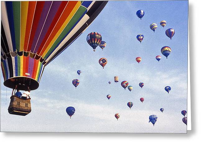 Recently Sold -  - Warner Park Greeting Cards - Hot Air Balloon - 12 Greeting Card by Randy Muir