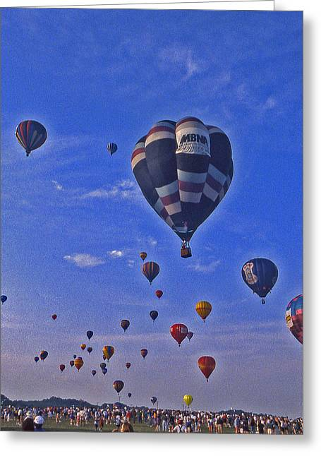 Recently Sold -  - Warner Park Greeting Cards - Hot Air Balloon - 14 Greeting Card by Randy Muir