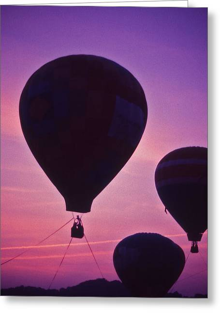 Recently Sold -  - Warner Park Greeting Cards - Hot Air Balloon - 8 Greeting Card by Randy Muir