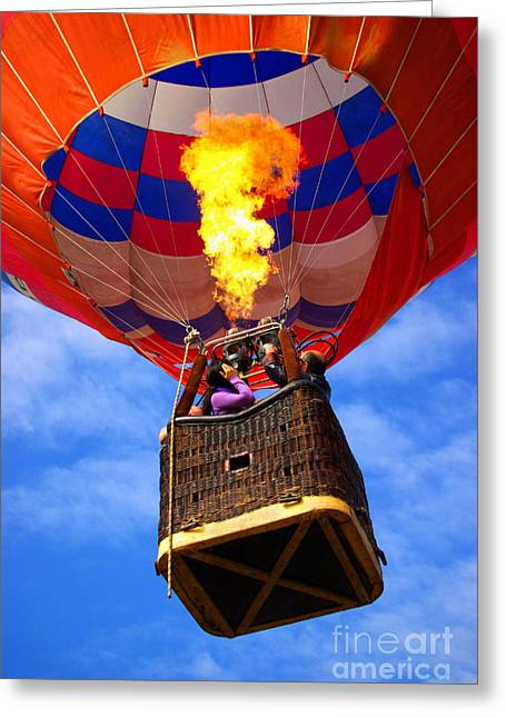 Balloon Greeting Cards - Hot Air Balloon Greeting Card by Carlos Caetano