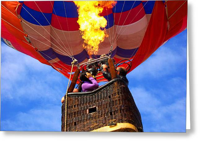 Hot Air Balloon Greeting Card by Carlos Caetano