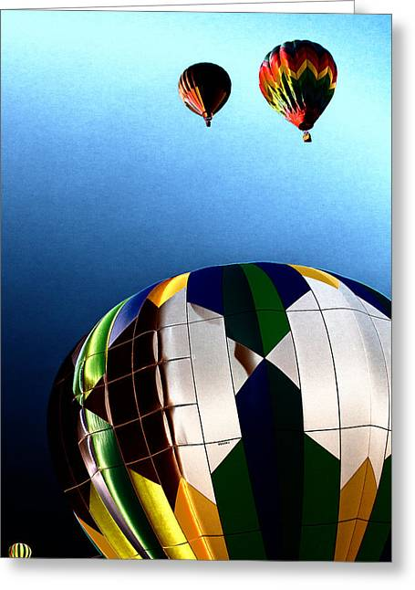 Rally Greeting Cards - Hot Air Balloon Color Greeting Card by David Patterson