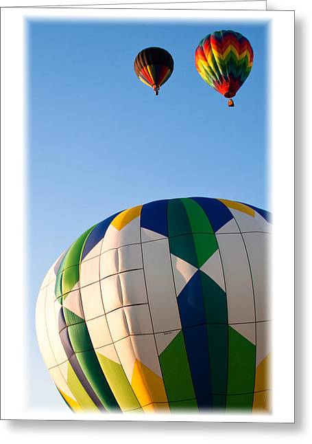 Rally Greeting Cards - Hot Air Balloon Color II Greeting Card by David Patterson