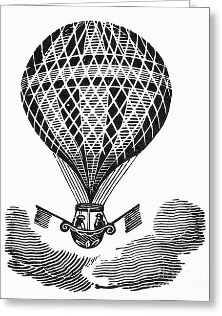 Bewick Greeting Cards - Hot Air Balloon Greeting Card by Granger