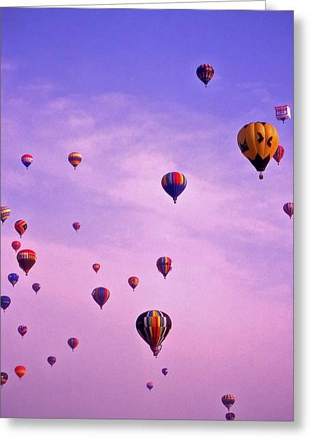 Warner Park Photographs Greeting Cards - Hot Air Balloon Race - 1 Greeting Card by Randy Muir