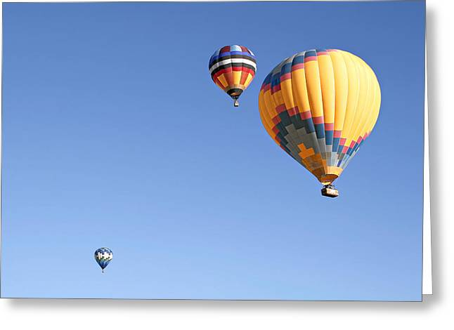 Flying Greeting Cards - Hot Air Balloon Ride A Special Adventure Greeting Card by Christine Till