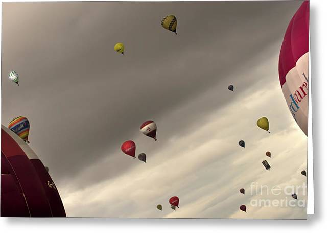 Weightless Greeting Cards - Hot air balloons Greeting Card by Angel  Tarantella