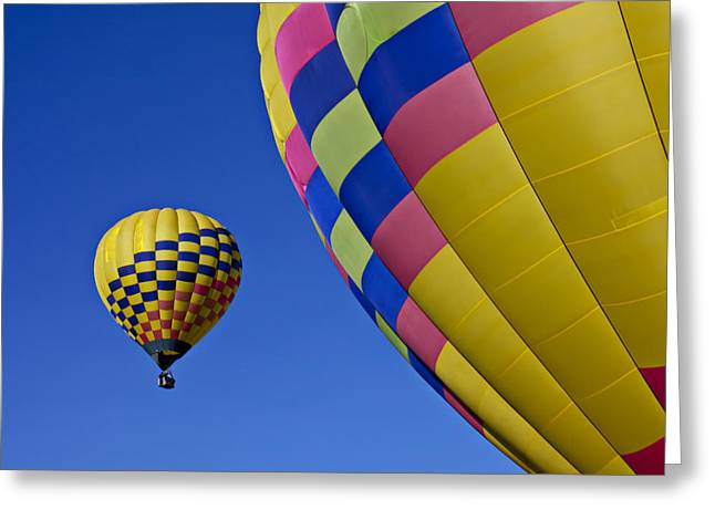 Ballooning Greeting Cards - Hot air balloons Greeting Card by Garry Gay