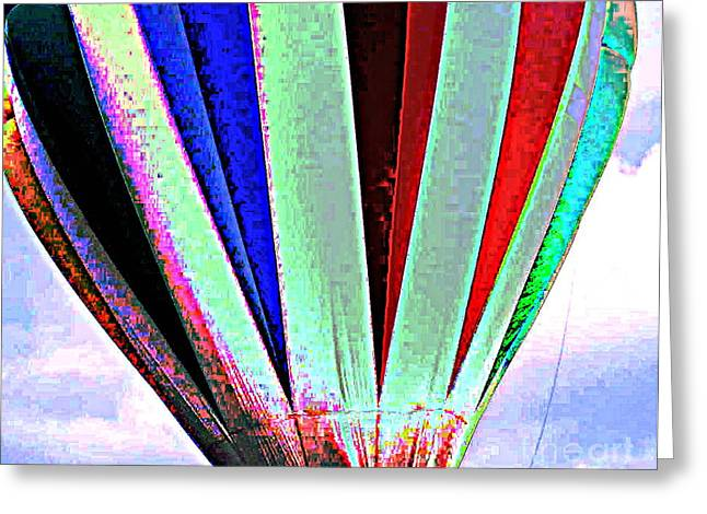 Original Art Photographs Greeting Cards - Hot Air Greeting Card by Colleen Kammerer
