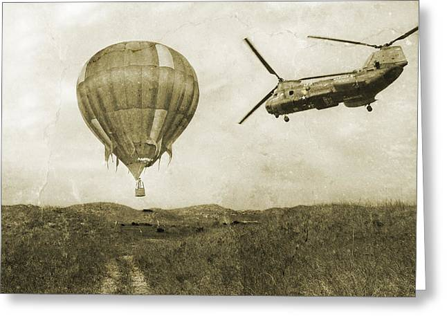 Helium Greeting Cards - Hot Air Cool Air Greeting Card by Betsy C  Knapp