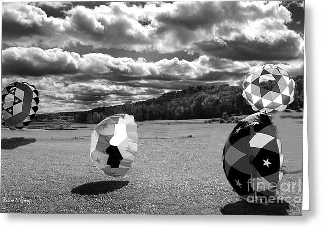 Black Berries Greeting Cards - Hot Air Greeting Card by Diane E Berry