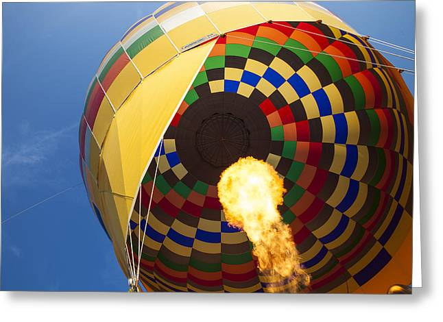 """hot Air Balloon"" Greeting Cards - Hot Air Greeting Card by Rick Berk"