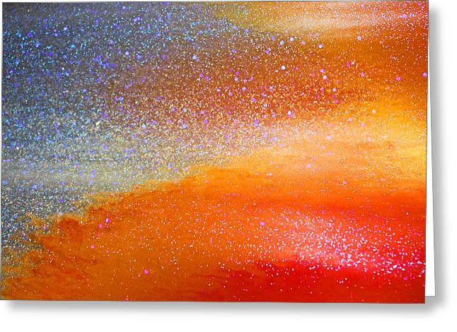 Sparkly Greeting Cards - Hot and Cold Greeting Card by Kristin Elmquist