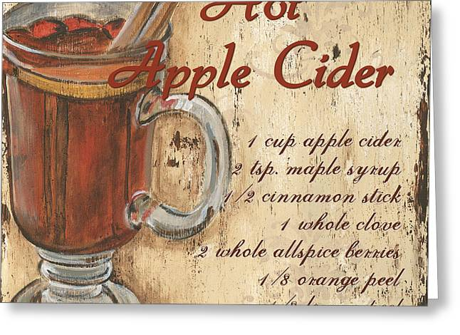 Recipes Greeting Cards - Hot Apple Cider Greeting Card by Debbie DeWitt