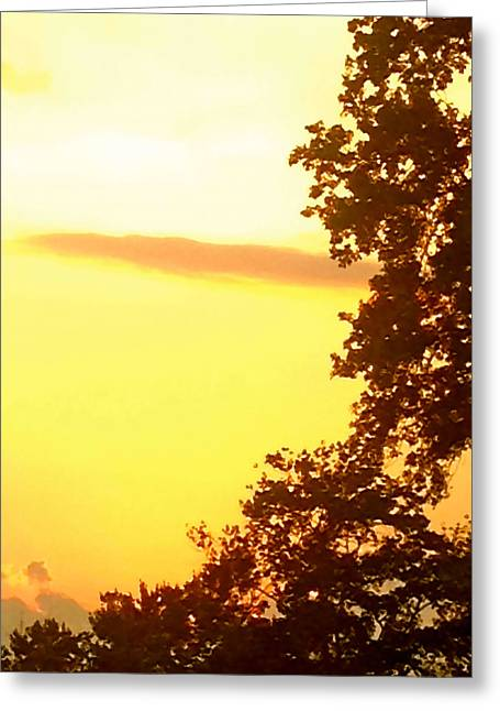 Hot Ashes For Trees Greeting Card by Christine Segalas