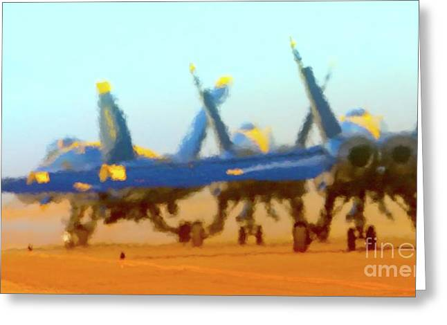 Fa-18 Greeting Cards - Hot Blues Greeting Card by Gus McCrea
