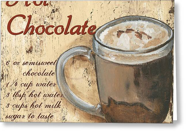 Recipes Greeting Cards - Hot Chocolate Greeting Card by Debbie DeWitt