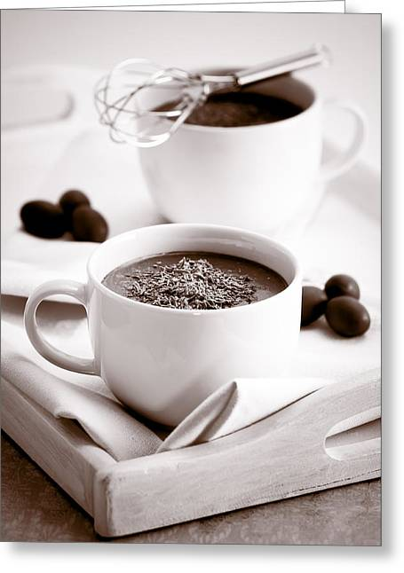 Chocolate Photos Greeting Cards - Hot Chocolate Drinks Greeting Card by Amanda And Christopher Elwell