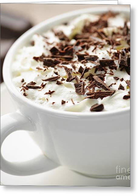 Shaving Greeting Cards - Hot chocolate Greeting Card by Elena Elisseeva