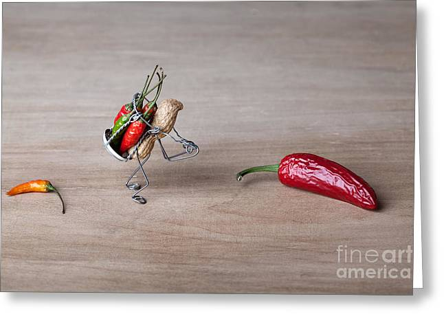 Paprika Greeting Cards - Hot Delivery 01 Greeting Card by Nailia Schwarz