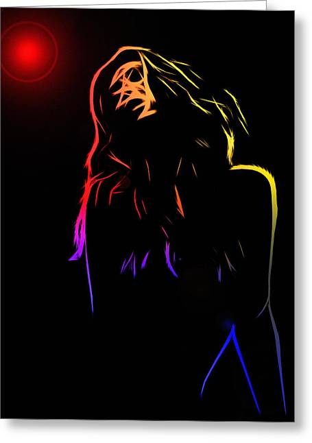 Female Body Greeting Cards - Hot Light Greeting Card by Stefan Kuhn
