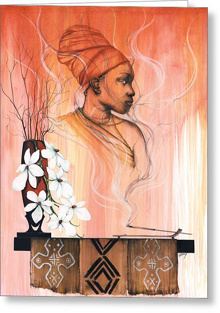 Spirt Greeting Cards - Hot Like Fire Greeting Card by Anthony Burks Sr
