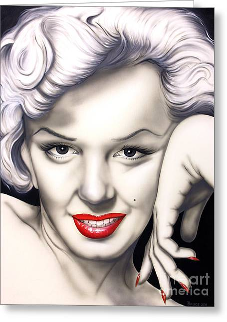 Norma Jean Greeting Cards - Hot Lips Greeting Card by Bruce Carter