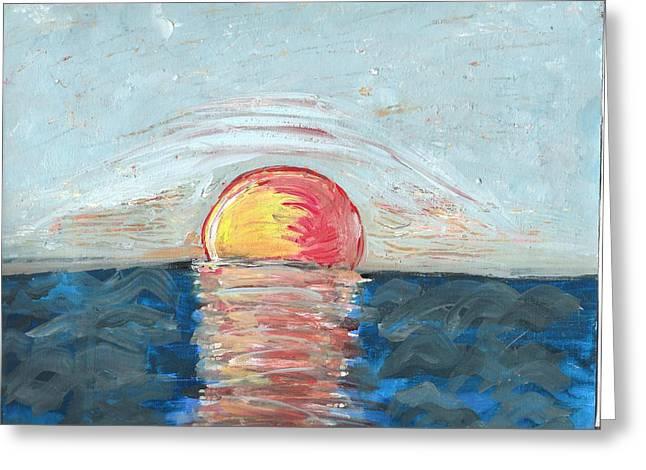 Exhibitionist Greeting Cards - Hot Rising Sun Greeting Card by Barbara Krebs