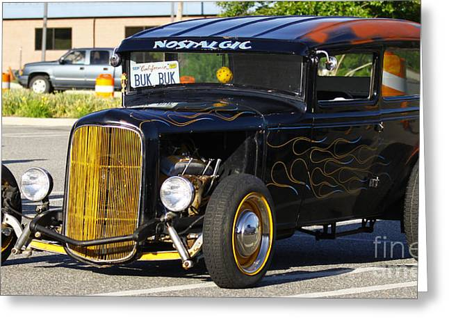 Old Street Greeting Cards - Hot Rod Greeting Card by Barry  Blackburn