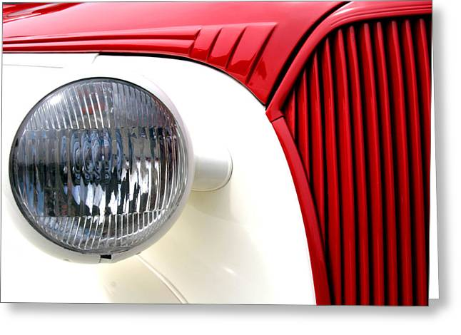 Ho Ho Ho Greeting Cards - Hot Rod In Red Greeting Card by Steve Parr