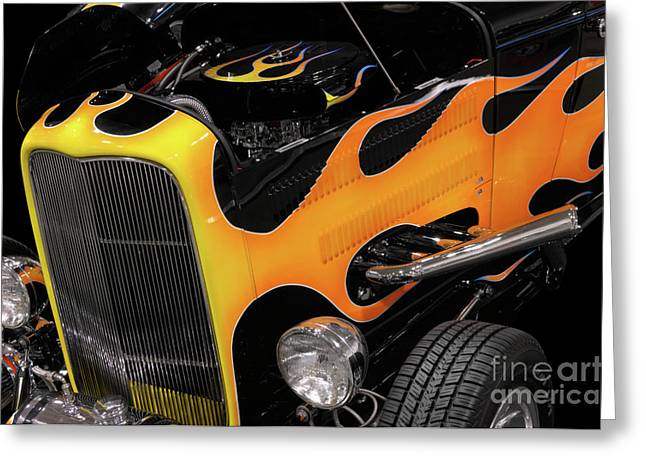 Hot Rod Greeting Card by Oleksiy Maksymenko