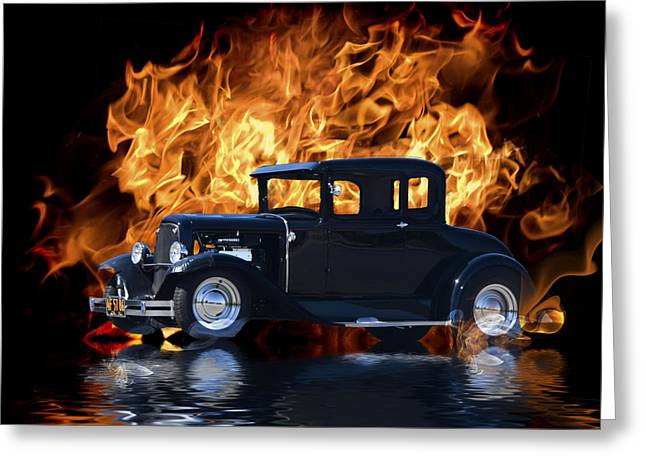 Floods Greeting Cards - Hot Rod Greeting Card by Patricia Stalter