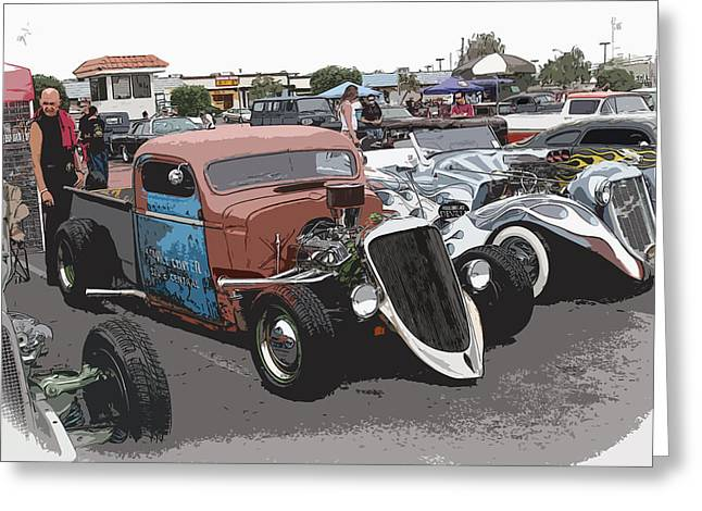 Hot Rods Greeting Card by Steve McKinzie