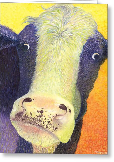 Holy Cow Greeting Cards - Hot Sam Greeting Card by Tammy Olson
